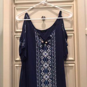 Soft Navy blue blouse